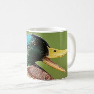 Caneca De Café retrato do pato do pato selvagem