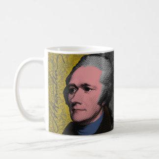 Caneca De Café Retrato do pop art de Alexander Hamilton