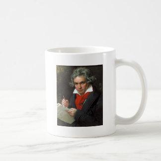 Caneca De Café Retrato do vintage do compositor, Ludwig von