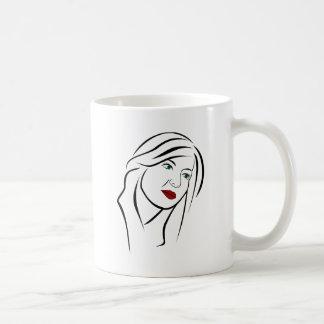 Caneca De Café Retrato fêmea
