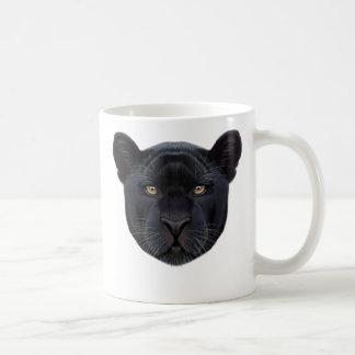 Caneca De Café Retrato ilustrado da pantera preta