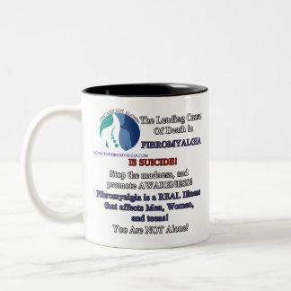 Caneca de café Righthanded - fibromialgia &
