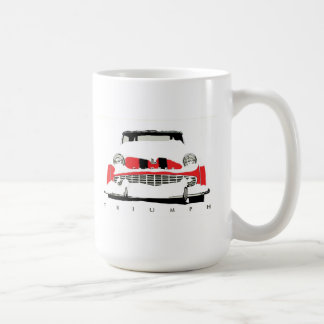 Caneca De Café Roadster do vintage de Triumph TR3 na neve