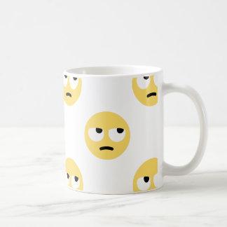Caneca De Café rolamento do olho do emoji