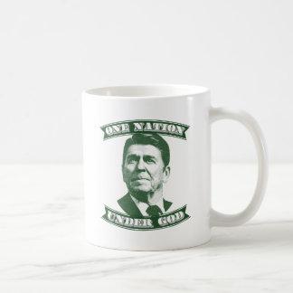 Caneca De Café Ronald Reagan uma nação sob o deus