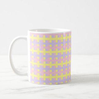 Caneca De Café Rosa, amarelo e roxo macios abstratos
