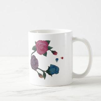 Caneca De Café Rosa cor-de-rosa do roxo