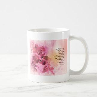 Caneca De Café Rosa da cerca 3 do marmelo da oração da serenidade