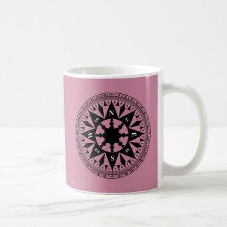 Caneca De Café Rosa de compasso #2