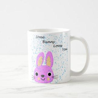 Caneca De Café rosa do amor do coelho