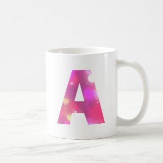 Caneca De Café Rotule corações cor-de-rosa