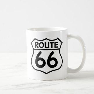 Caneca De Café Roupa & presentes do sinal da estrada da rota 66