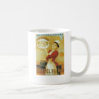 Caneca De Café Roupa tradicional da mulher francesa do anúncio do