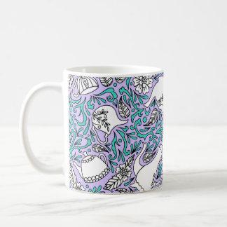 Caneca De Café Roxo do tempo do chá