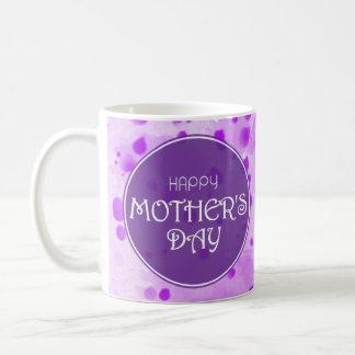 Caneca De Café Roxo feliz do abstrato do dia das mães