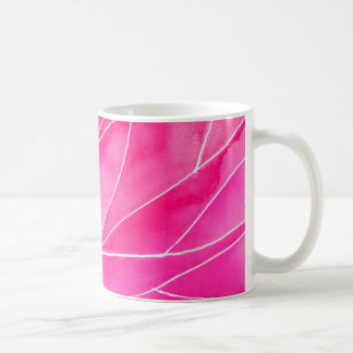 Caneca De Café Ruptura do Watercolour do rosa quente