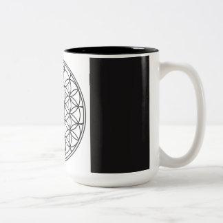 Caneca de café sagrado da geometria