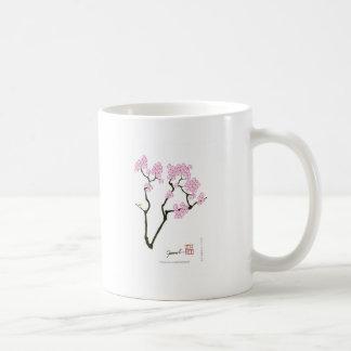 Caneca De Café sakura com pássaro verde, fernandes tony