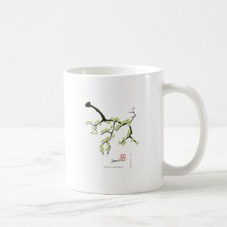 Caneca De Café sakura com pássaros verdes, fernandes tony