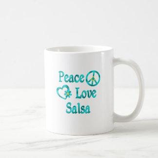 Caneca De Café Salsa do amor da paz