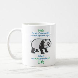 Caneca De Café Salvar nossas pandas