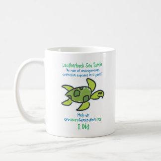 Caneca De Café Salvar nossas tartarugas de mar
