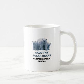 Caneca De Café Salvar os ursos polares