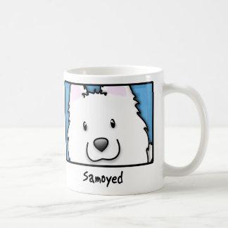 Caneca De Café Samoyed quadrado dos desenhos animados