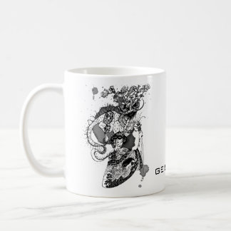 Caneca De Café Samurai da gueixa