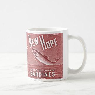 Caneca De Café sardinhas novas da esperança