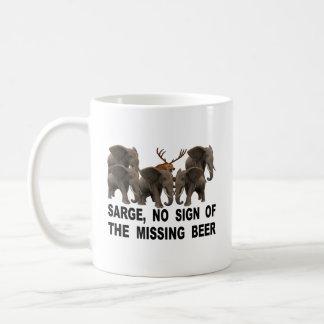 Caneca De Café Sarge, nenhum sinal da cerveja faltante