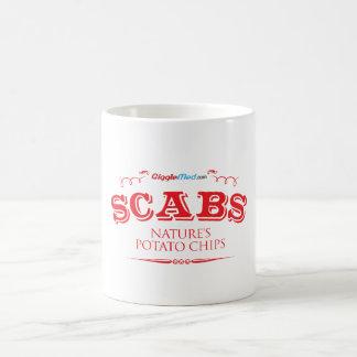 Caneca De Café Scabs: Microplaquetas de batata da natureza