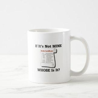 Caneca De Café Se não é MINA