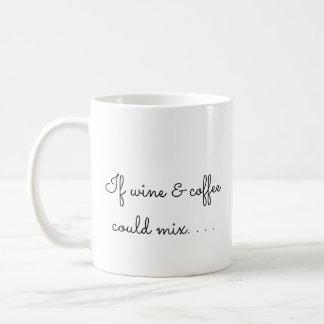 Caneca De Café Se o vinho e o café poderiam misturar