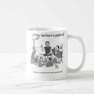 Caneca De Café Se Plato tinha sido um goatherd