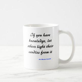 Caneca De Café Se você tem o conhecimento, deixe outro iluminar