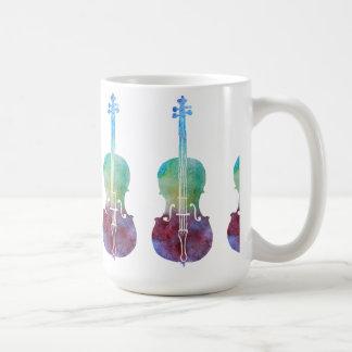 Caneca De Café Seis violoncelos de Colorwashed