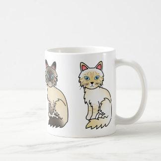 Caneca De Café Sele o gato malhado e o gato malhado de creme