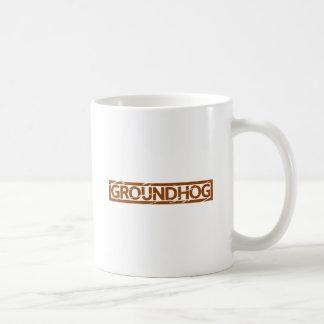 Caneca De Café Selo de Groundhog