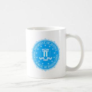 Caneca De Café Selo do FBI no azul