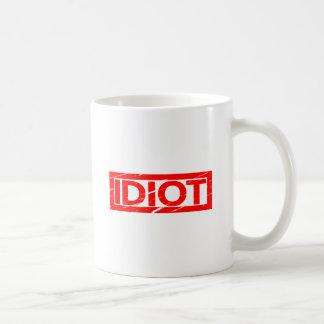 Caneca De Café Selo do idiota