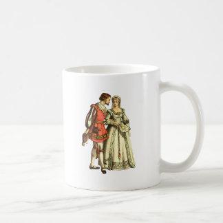 Caneca De Café Senhor e senhora medievais do ~ da ilustração do