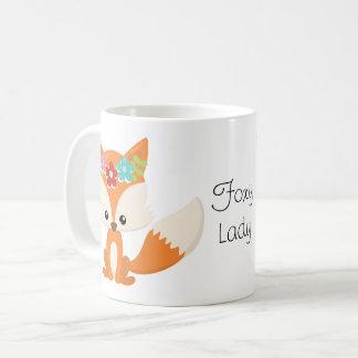 Caneca De Café Senhora Foxy do Fox da floresta pequena bonito