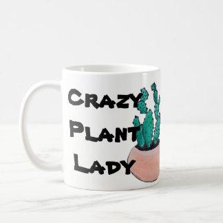 Caneca De Café Senhora louca da planta