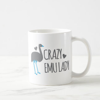 Caneca De Café senhora louca do emu