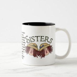 Caneca de café sentimental do poema da irmã