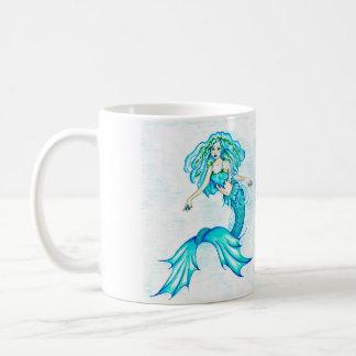 Caneca De Café Sereia azul