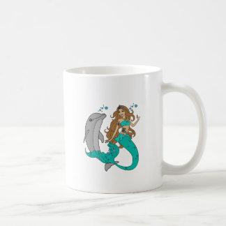 Caneca De Café Sereia com golfinho