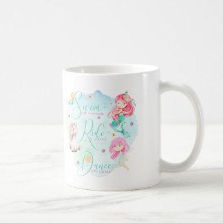 Caneca De Café Sereias bonitos da aguarela, unicórnio, fadas
