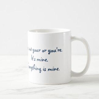 Caneca De Café Seu engraçado você é gramática